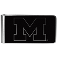 Michigan Wolverines Black and Steel Money Clip