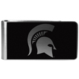 Michigan St. Spartans Black and Steel Money Clip