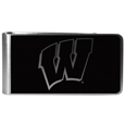 Wisconsin Badgers Black and Steel Money Clip