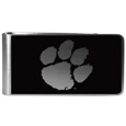 Clemson Tigers Black and Steel Money Clip