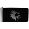 Louisville Cardinals Black and Steel Money Clip