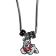 Fresno St. Bulldogs Euro Bead Necklace