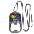 Kansas Jayhawks Bottle Opener Tag Necklace