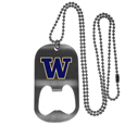 Washington Huskies Bottle Opener Tag Necklace