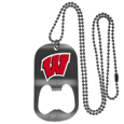 Wisconsin Badgers Bottle Opener Tag Necklace