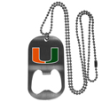 Miami Hurricanes Bottle Opener Tag Necklace