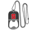 N. Carolina St. Wolfpack Bottle Opener Tag Necklace