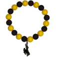 Wyoming Cowboy Fan Bead Bracelet