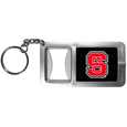 N. Carolina St. Wolfpack Flashlight Key Chain with Bottle Opener