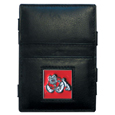 Fresno St. Bulldogs Leather Jacob's Ladder Wallet