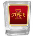 Iowa St. Cyclones Square Glass Shot Glass