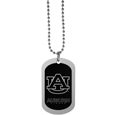 Auburn Tigers Chrome Tag Necklace