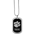 Clemson Tigers Chrome Tag Necklace