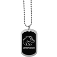 Boise St. Broncos Chrome Tag Necklace