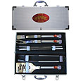 Iowa St. Cyclones 8 pc Stainless Steel BBQ Set w/Metal Case