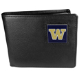 Washington Huskies Leather Bi-fold Wallet Packaged in Gift Box