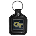 Georgia Tech Yellow Jackets Square Leatherette Key Chain
