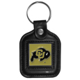 Colorado Buffaloes Square Leatherette Key Chain