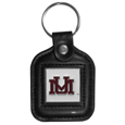 Montana Grizzlies Square Leatherette Key Chain