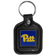 PITT Panthers Square Leatherette Key Chain