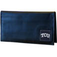 TCU Horned Frogs Leather Checkbook Cover
