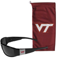 Virginia Tech Hokies Chrome Wrap Sunglasses and Bag