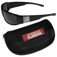 Alabama Crimson Tide Chrome Wrap Sunglasses and Zippered Carrying Case