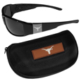 Texas Longhorns Chrome Wrap Sunglasses and Zippered Carrying Case