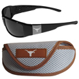 Texas Longhorns Chrome Wrap Sunglasses and Sports Case