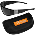 Tennessee Volunteers Chrome Wrap Sunglasses and Zippered Carrying Case
