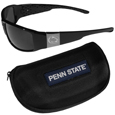 Penn St. Nittany Lions Chrome Wrap Sunglasses and Zippered Carrying Case