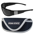 Penn St. Nittany Lions Chrome Wrap Sunglasses and Sports Case