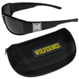 Michigan Wolverines Chrome Wrap Sunglasses and Zippered Carrying Case