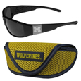 Michigan Wolverines Chrome Wrap Sunglasses and Sports Case