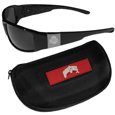 Ohio St. Buckeyes Chrome Wrap Sunglasses and Zippered Carrying Case