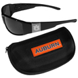 Auburn Tigers Chrome Wrap Sunglasses and Zippered Carrying Case