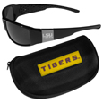 LSU Tigers Chrome Wrap Sunglasses and Zippered Carrying Case