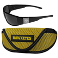 Iowa Hawkeyes Chrome Wrap Sunglasses and Sports Case