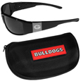 Georgia Bulldogs Chrome Wrap Sunglasses and Zippered Carrying Case