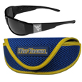 W. Virginia Mountaineers Chrome Wrap Sunglasses and Sports Case