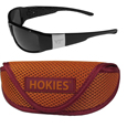 Virginia Tech Hokies Chrome Wrap Sunglasses and Sports Case