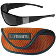 Miami Hurricanes Chrome Wrap Sunglasses and Sports Case