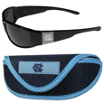 N. Carolina Tar Heels Chrome Wrap Sunglasses and Sports Case