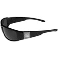 N. Carolina Tar Heels Etched Chrome Wrap Sunglasses