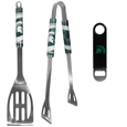 Michigan St. Spartans 2 pc BBQ Set and Bottle Opener