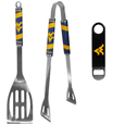 W. Virginia Mountaineers 2 pc BBQ Set and Bottle Opener