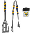 W. Virginia Mountaineers 2 pc BBQ Set and Chip Clip