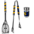 W. Virginia Mountaineers 2pc BBQ Set with Season Shaker