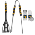W. Virginia Mountaineers 2pc BBQ Set with Salt & Pepper Shakers