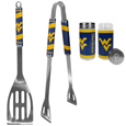 W. Virginia Mountaineers 2pc BBQ Set with Tailgate Salt & Pepper Shakers